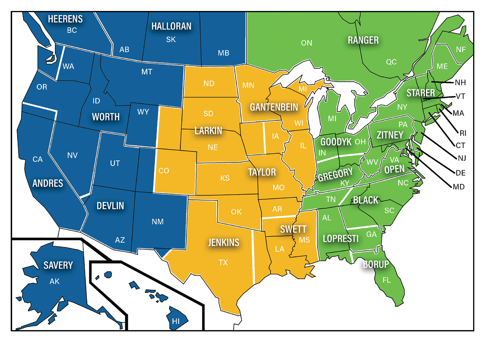 PPI Sales territory map