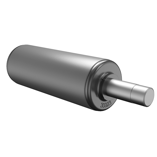 Roller with grooved shaft